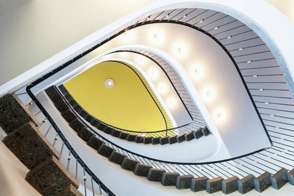 Home Interior Photograph - Staircase In The Aok Building, Near by H. & D. Zielske / Look-foto