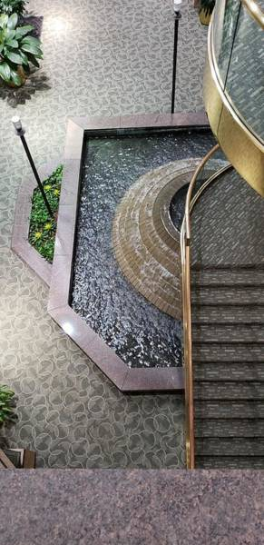Photograph - Stairs And Fountain  by Karen Harrison