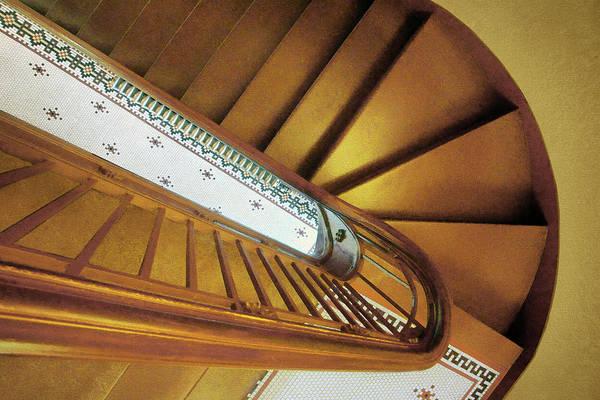 Wall Art - Photograph - Stairs - City Hall - Papillion - Nebraska by Nikolyn McDonald
