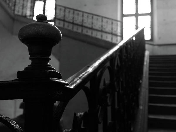 Art Print featuring the photograph Stairs, Handrail by Edward Lee