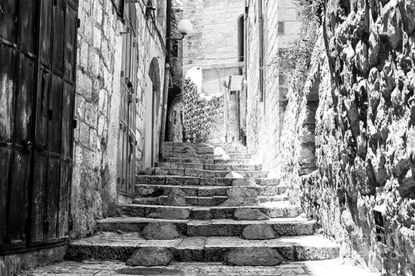 Wall Art - Photograph - Stairs Of History Jerusalem by John Rizzuto