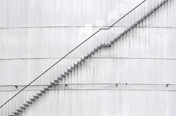Compartments Photograph - Stairs On A Huge Water Tank by Robert Götzfried (robgo76), Munich, Germany