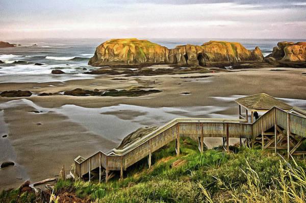 Stairs To The Beach Art Print