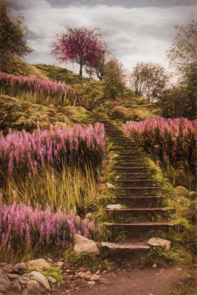 Photograph - Stairway To The Sky Painting by Debra and Dave Vanderlaan