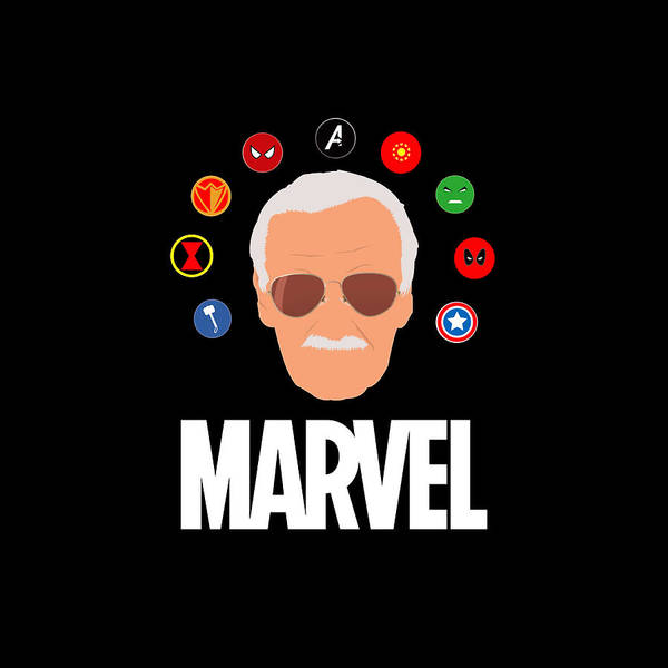 Wolverines Drawing - Stan Lee Marvel by Lafi Sive