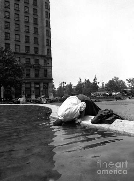 Photograph - Stan Turken Dips His Head In The by New York Daily News Archive