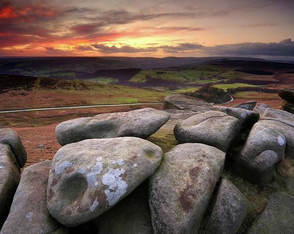 Peak District National Park Photograph - Stanage Edge Sunset by Chris Hepburn