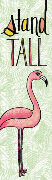 Painting - Stand Tall Flamingo Art by Jen Montgomery