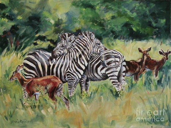 Uganda Painting - Stand Together by Maria's Watercolor