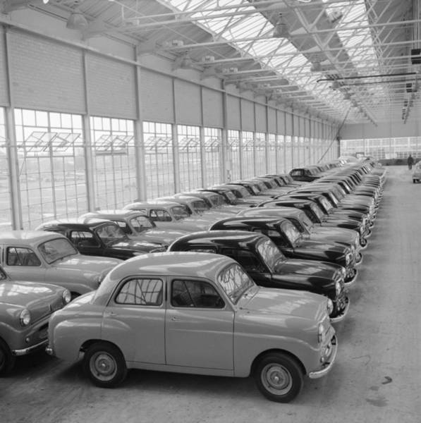 Manufacturing Plant Wall Art - Photograph - Standard Eight Cars by John Chillingworth