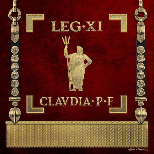 Digital Art - Standard Of The 11th Roman Legion - Vexillum Of Legio Xi Claudia by Serge Averbukh