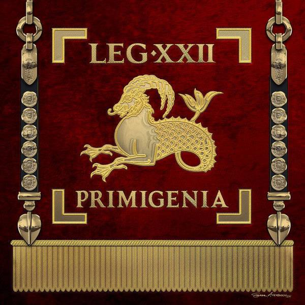 Digital Art - Standard Of The 22nd Legion Primigenia - Vexillum Of The Fortune's Twenty-second Legion by Serge Averbukh
