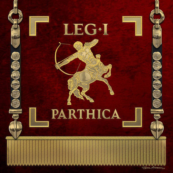Digital Art - Standard Of The First Parthian Legion - Vexillum Of The Legio I Parthica by Serge Averbukh