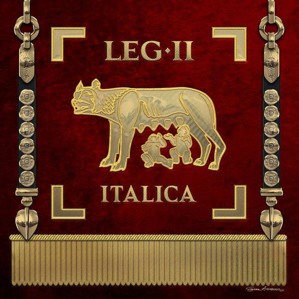 Digital Art - Standard Of The Italian Second Legion - Vexillum Of Legio II Italica by Serge Averbukh