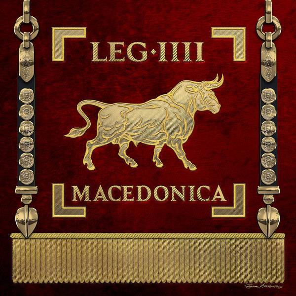 Digital Art - Standard Of The Macedonian Fourth Legion - Vexillum Of Legio Iv Macedonica by Serge Averbukh