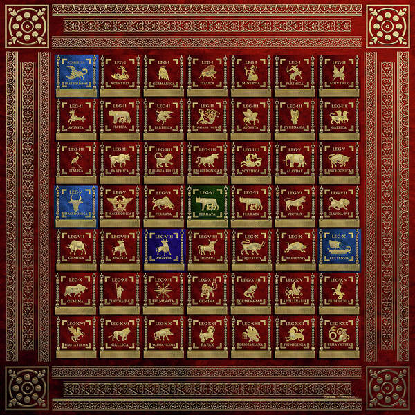 Digital Art - Standards Of Roman Imperial Legions - Legionum Romani Imperii Insignia by Serge Averbukh