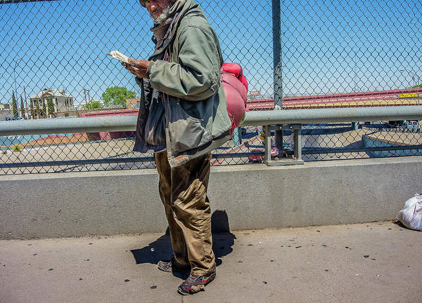 Downtown El Paso Photograph - Standing And Staring by Ken Blystone