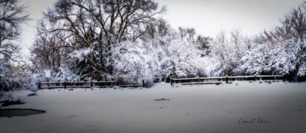 Photograph - Standing Bear Lake Coated In Snow by Edward Peterson