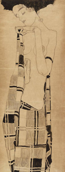 Wall Art - Painting - Standing Girl, 1910 by Egon Schiele
