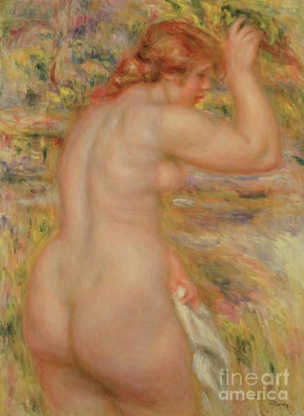 Seductive Painting - Standing Nude By Renoir by Pierre Auguste Renoir