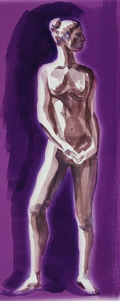 Wall Art - Painting - Standing Nude Model Gesture Xxxix by Irina Sztukowski