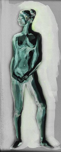 Wall Art - Painting - Standing Nude Model Gesture Xxxixi by Irina Sztukowski