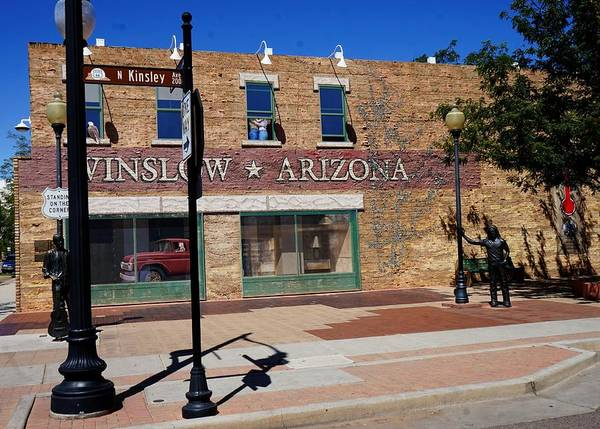 Digital Art - Standing On A Corner In Winslow Arizona by Barkley Simpson