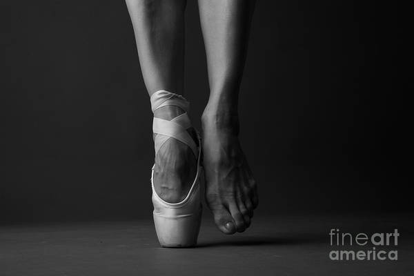 Accessories Photograph - Standing On Tip Toe, Monochrome by Anna Jurkovska