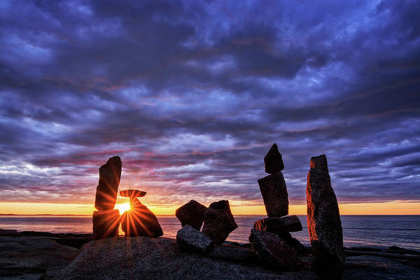 Photograph - Standing Stone 1 Halibut Pt.  by Michael Hubley