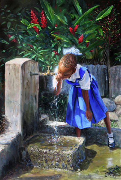 Saint Lucia Painting - Standpipe #3 by Jonathan Guy-Gladding JAG