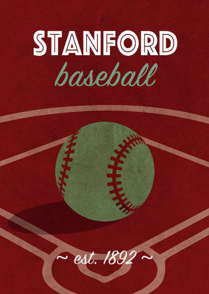 Wall Art - Mixed Media - Stanford Baseball College Sports Team Retro Vintage Poster Series by Design Turnpike