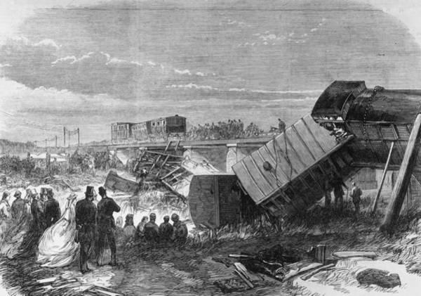 Train Tracks Digital Art - Staplehurst Crash by Hulton Archive