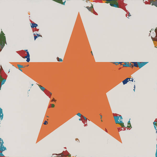 Wall Art - Painting - Star #3 by David Palmer