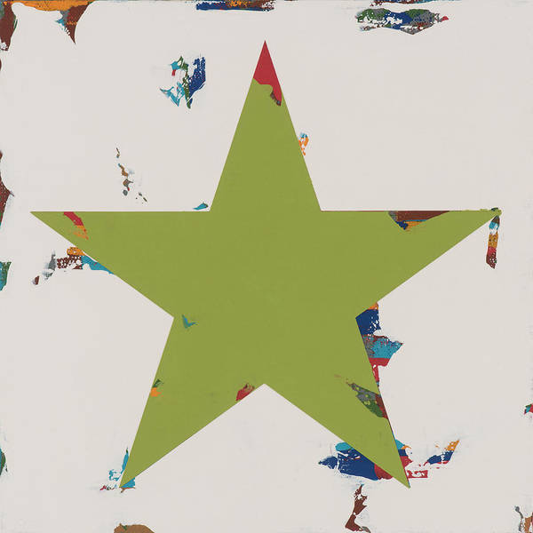 Wall Art - Painting - Star #5 by David Palmer