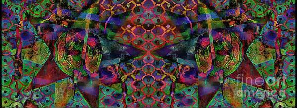 Mixed Media - Star Abstract by Jolanta Anna Karolska