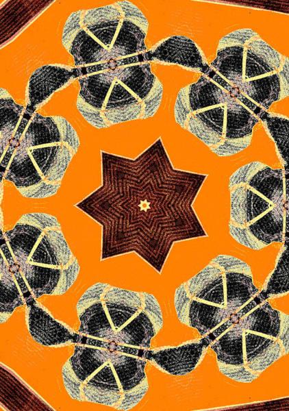 Digital Art - Star Abstract Pattern 1 by Artist Dot