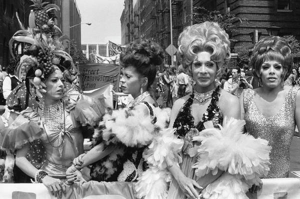 Annual Photograph - Star At Gay Pride Day March, 1973 by Fred W. McDarrah