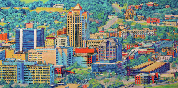 Roanoke Wall Art - Painting - Star City Of The South - Roanoke Virginia by Bonnie Mason