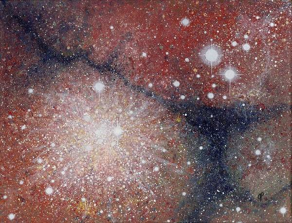 Wall Art - Painting - Star Cluster by Jana Parkes