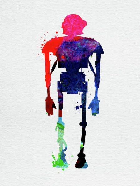 Wall Art - Mixed Media - Star Droid Watercolor 3 by Naxart Studio