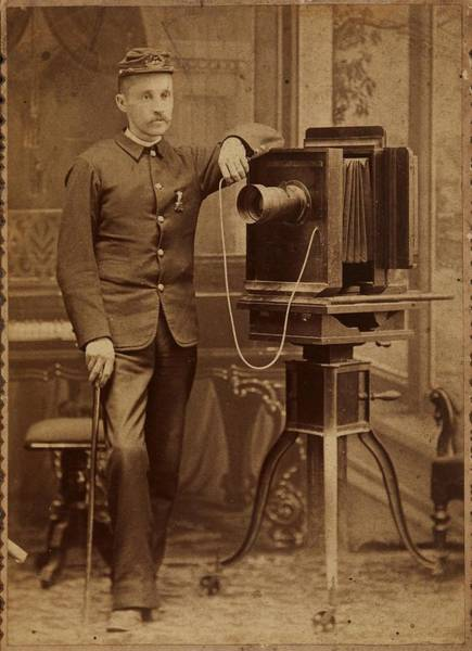 Painting - Star Gallery Wabash, Indiana American Photographer And Camera Ca. 1880 by Celestial Images