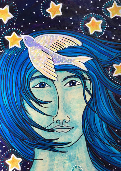Pleiades Painting - Star Man by Sarah Behler