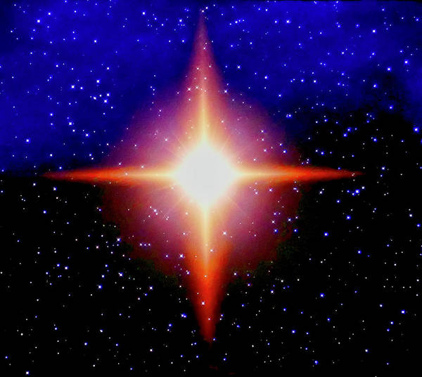Photograph - Star Of Christ by Joan Reese