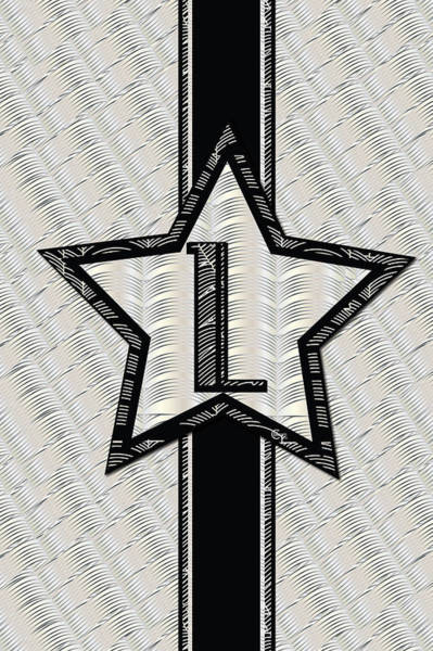 Digital Art - Star Of The Show Art Deco Style Letter L by Cecely Bloom