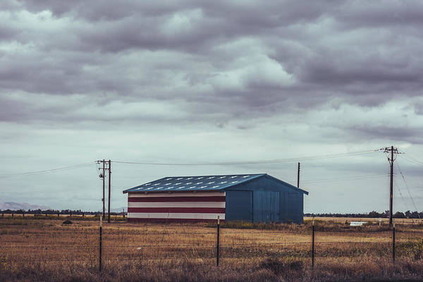 Wall Art - Photograph - Star-spangled Barn by Hyuntae Kim