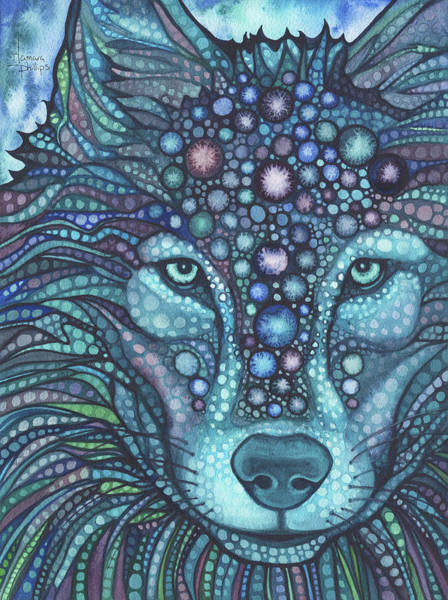 Wall Art - Painting - Starwolf by Tamara Phillips