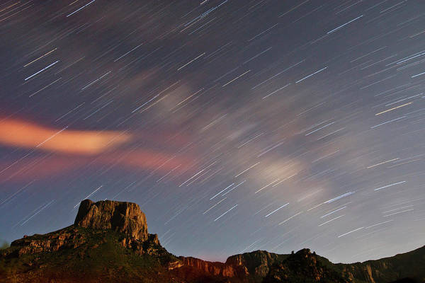 Chisos Mountains Photograph - Star Trails Over Chisos Mountains, Big by Danita Delimont