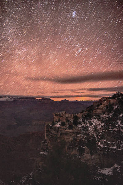 Photograph - Star Trails Over Grand Canyon  by Chance Kafka