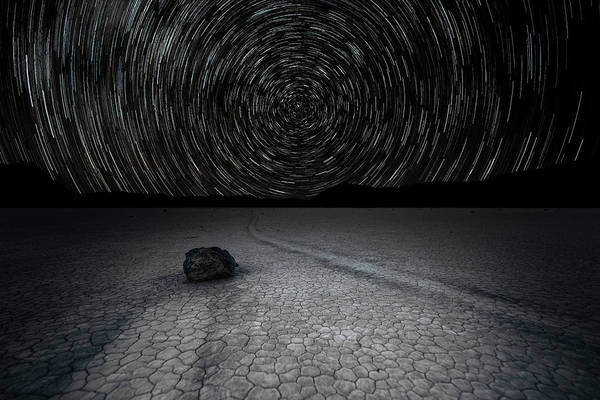 Photograph - Star Trails Over Racetrack Playa by William Dickman