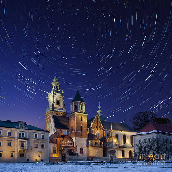 Wall Art - Photograph - Star Trails Over The Royal Cathedral On by Steve Allen